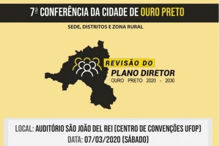 Imagem que representa a notícia: Programação 7ª Conferência da Cidade de Ouro Preto