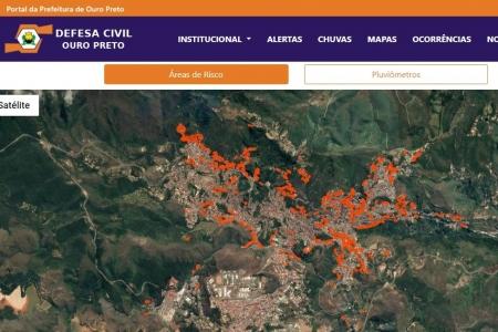 Defesa Civil de Ouro Preto lança site para melhorar atendimento à população